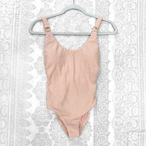 NWT PilyQ Pink Sands Hailey One Piece Swimsuit